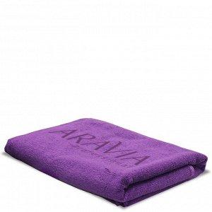 Полотенце махровое 140х70 с логотипом ARAVIA Professional фиолетовое