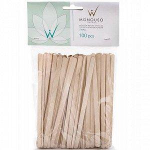 Шпатели одноразовые деревянные малые 5х140 мм ItalWax 100 шт/уп