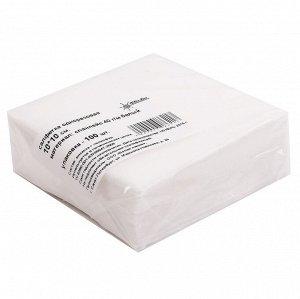 Салфетки одноразовые спанлейс 10х10 см White Line  100 шт/уп