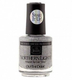 "Голографическая сушка Northern Lights Hologram Top Coat ""Silver"" INM 15 мл"