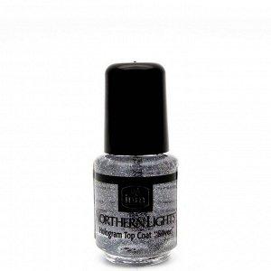 "Голографическая сушка Northern Lights Hologram Top Coat ""Silver"" INM 3.5 мл"