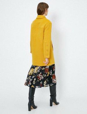 Пальто горчичное уценка