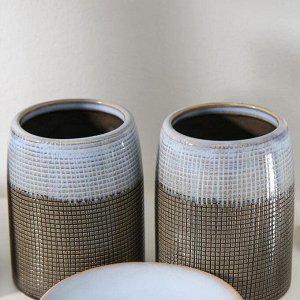 Набор аксессуаров для ванной комнаты «Рассвет», 4 предмета (мыльница, дозатор для мыла 320 мл, 2 стакана)
