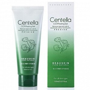 BEAUSKIN Centella CICA Peeling Gel Пилинг-гель для лица, с экстр. центеллы 150мл.