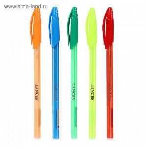 Ручка шариковая 0,5мм стержень синий, корпус Полоски МИКС, в дисплее