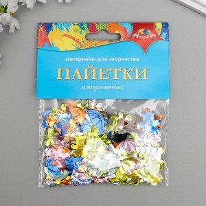 "Набор декоративные пайеток ""Мишка и зонтик"" 20 гр"