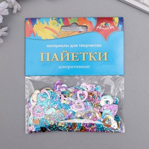 """Набор декоративных пайеток """"Сердечки"""" 20 гр"""