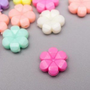 """Бусины декоративные """"Цветочки"""" отверстие d- 1,5 мм (набор 43 шт)"""