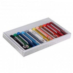 """Пастель масляная, набор 12 цветов, Гамма """"Студия"""", d-8мм, l-65мм, в картонной коробке"""