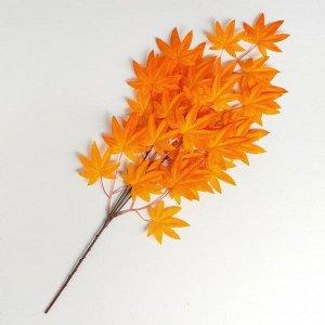 Декор «Листья на ветке», цвет оранжевый