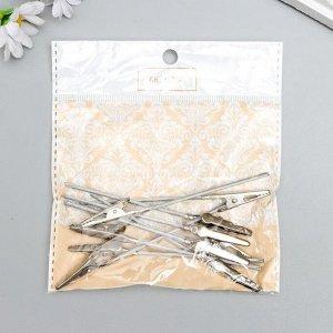 Держатель для визиток набор 10 шт серебро 9,7 см