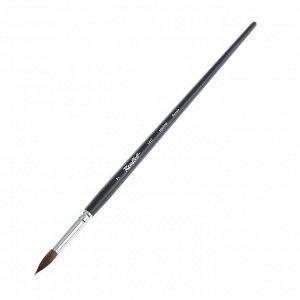 Кисть белка круглая, Roubloff 1417 № 7, длинная ручка, матовая