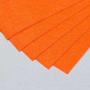 "Фетр жесткий 1 мм ""Жжёный апельсин"" набор 10 листов формат А4"