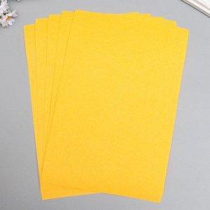 """Фетр жесткий 1 мм """"Оранжево-персиковый"""" набор 10 листов формат А4"""