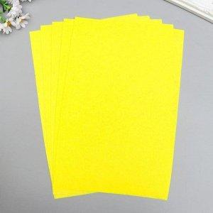 "Фетр жесткий 1 мм ""Жёлтый шартрез"" набор 10 листов формат А4"