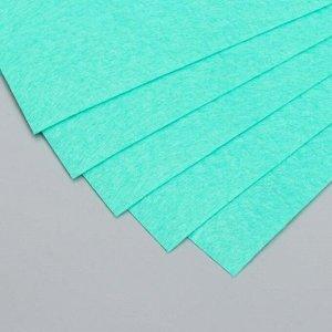 """Фетр жесткий 1 мм """"Зелёные джунгли"""" набор 10 листов формат А4"""