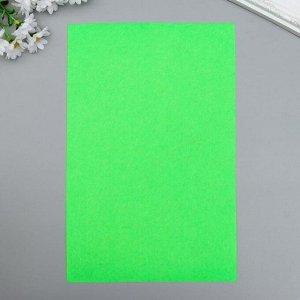 """Фетр жесткий 1 мм """"Зелёный лайм"""" набор 10 листов формат А4"""