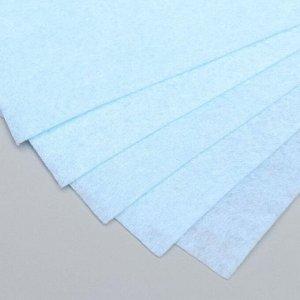 "Фетр жесткий 1 мм ""Бело-голубой"" набор 10 листов формат А4"