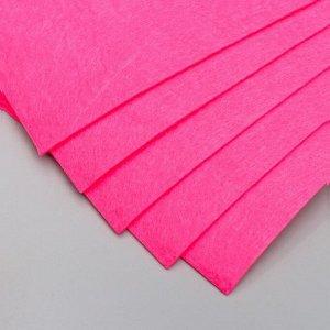 """Фетр жесткий 2 мм """"Французский розовый"""" набор 5 листов формат А4"""