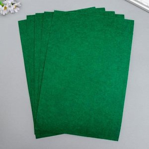 "Фетр жесткий 2 мм ""Тёмно-зелёный мох"" набор 5 листов формат А4"