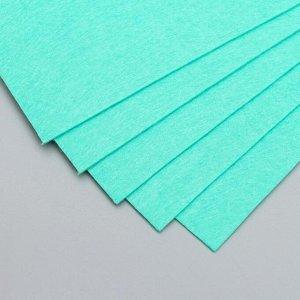 """Фетр жесткий 2 мм """"Зелёные джунгли"""" набор 5 листов формат А4"""