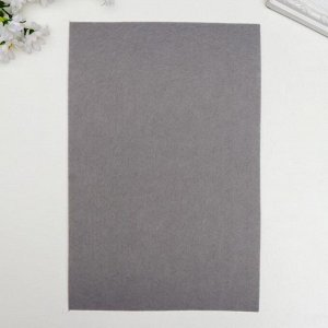"""Фетр жесткий 2 мм """"Древесно-угольный"""" набор 5 листов формат А4"""
