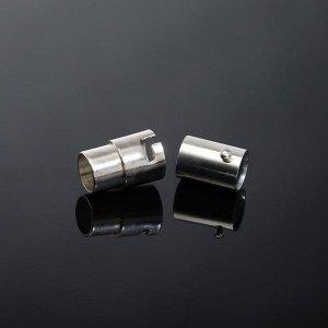 Замок-концевик магнитный с фиксатором 17*8мм (внутр. 6мм), цвет серебро
