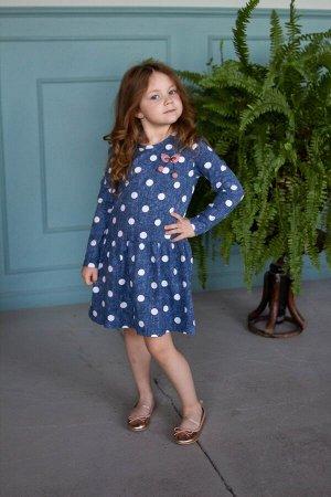 Платье Материал: Кулирка+лайкра.  Состав: 95% Хлопок, 5% Лайкра.  Цвет: Горох