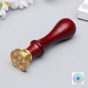 """Печать для сургуча с деревянной ручкой """"Знак зодиака - Козерог"""" 9х2,5х2,5 см"""
