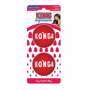 KONG игрушка для собак Мячик М, 2 шт