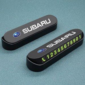 Стильная табличка автовизитка под лобовое стекло SUBARU