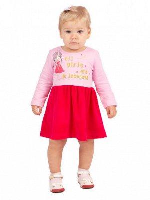 Платье Л2336-5705, малиновый+розовое кружево