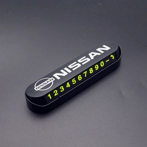 Стильная табличка автовизитка под лобовое стекло NISSAN