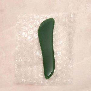 Массажёр гуаша «Скребок», 11 ? 2,5 см, нефрит