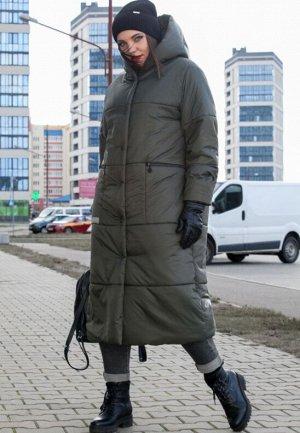 зима хаки и черное! Стильно зимнее стеганное пальто с капюшоном от LADY SECRET, станет вашим лучшим решением при выборе верхней одежды. Уникальный бельгийский утеплитель ISOSOFT и ветрозащитной мембра