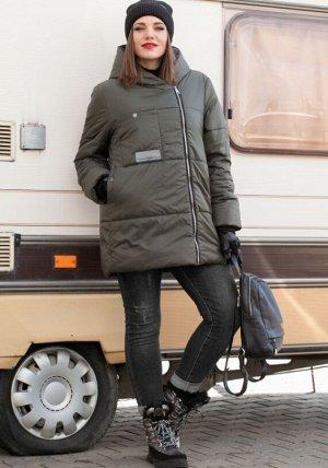 зима хаки и черный, Модное зимнее удлиненная стеганная куртка с Капюшоном от LADY SECRET, станет вашим лучшим решением при выборе верхней одежды. Уникальный бельгийский утеплитель ISOSOFT и ветрозащит