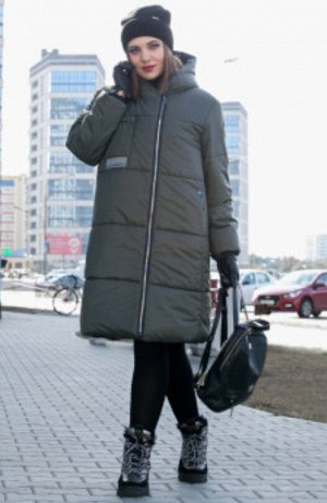зима хаки и черный, Модное зимнее стеганная пальто с Капюшоном от LADY SECRET, станет вашим лучшим решением при выборе верхней одежды. Уникальный бельгийский утеплитель ISOSOFT и ветрозащитной мембран