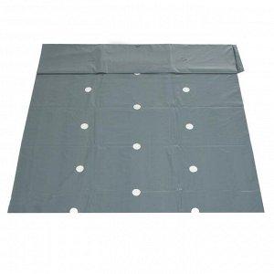 Плёнка полиэтиленовая, для мульчирования, толщина 100 мкм, 3 ? 10 м, 6 рядов перфорации