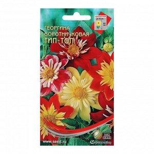 Семена цветов Георгина воротничковая, 15 шт