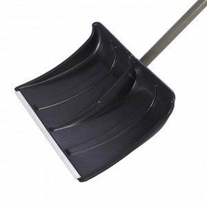 Лопата пластиковая радиусная, ковш 500 ? 375 мм, с алюминиевой планкой, металлический черенок, «Русич»
