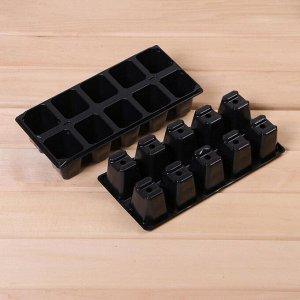 Набор для рассады: торфяной горшок (12 шт.), кассета 10 ячеек (3 шт.), торфяные таблетки 42 мм (30 шт.), поддон