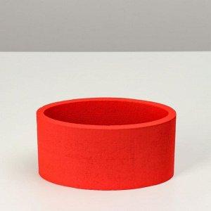 """Пенобокс 20?10?10 см кашпо для цветов и подарков """"Овал"""", красный"""