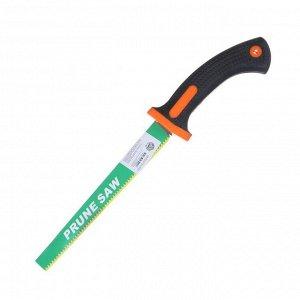 Ножовка садовая, 300 мм, пластиковая ручка, зелёная