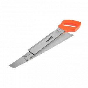 Ножовка по дереву Sparta 231255, 350 мм, 5 сменных полотен, пластиковая рукоятка