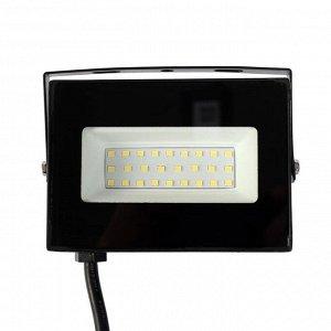 Прожектор светодиодный Smartbuy FL SMD LIGHT, 30 Вт, 6500 К, 1600 Лм, IP65, 125 х 92 х 27 мм