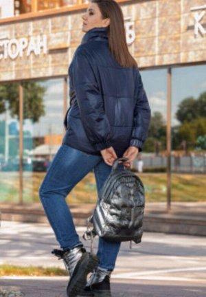 Деми/зима Стильная стёганная куртка на высокой стойке,   из ткани с водоотталкивающим эффектом, на прохладную осень/ теплую зиму (0 - -10 градусов С). Уникальный бельгийский утеплитель ISOSOFT, которы