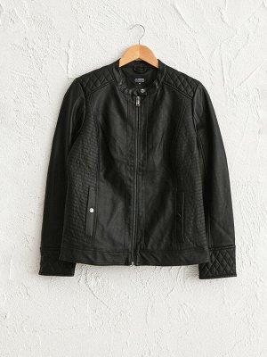 Куртка Капюшон: Без капюшона Материал подкладки: Подкладка из тафты Наполнитель: Без наполнения Форма: Стандарт Длина: Короткие Тип товара: Куртка Воротник: Стойка РАЗМЕР: 36, 40, 42, 44 ЦВЕТ: Black С