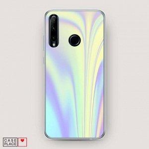 Силиконовый чехол Фиолетовая голограмма на Huawei Honor 10i