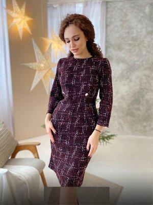 Платье Ткань плотный твид В размер