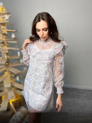 Платье Ткань: Плотный Гипюр Длина 90см